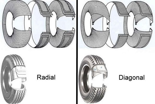 radial and diagonal tire