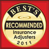 ambest logo reccomended insurance adjusters